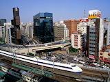 Bullet Train Ginza District Tokyo Japan