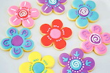 Rotate the flower cookies @ Tortas infantiles