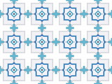 abstract blue and white pattern