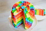 Colorful cake puzzle