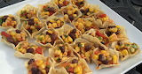 ^ Black Bean and Corn Salsa Bites