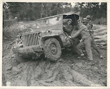 WW2 Jeep in the mud