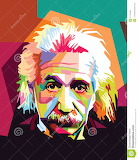Albert einstein pop-art