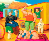 Circus-characters-painting-by-Fernando-Botero
