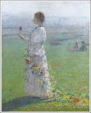 Henri Martin, Jeune Femme, 1889