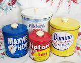 ^ Vintage canister set