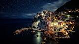 Night Time In The Town of Manarola Italy