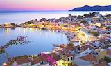 Greek Amorgos Island cruise port