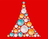 Bright Abstract Christmas Tree