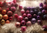 rainbow of ornaments