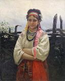 Рєпін І.Ю. Українка біля тину
