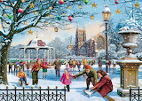 Festive Skaters by Vic McLindon...