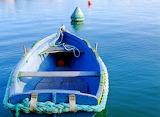 Peaceful Blue Boat
