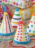 Birthday party hat cake