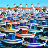 boats at Mykonos, George Callaghan