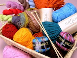Balls and skeins of yarn