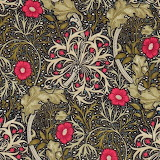 Fabrics & Papers Morris Seaweed Red
