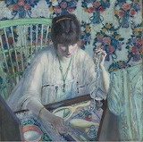 Frederick Carl Frieseke, La Poudreuse, ca 1913