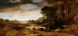 Landscape with Cows/cattle by Frederick William Watts