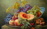 Frutas pintadas