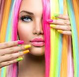 multicolored girl