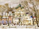 Konstantin Yuon, Rostov cathedrals, 1906
