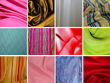 ☺ Collage- Colored fabrics...