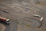 Curvy Road with Trucks