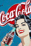 Coca Cola Adds - smiling lady