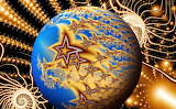 Abstract, sphere, stars