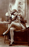 Photo-likely-for-arcade-card-woman-flapper-siiting-by-table-in-s
