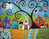 #Tree and Buildings by Karla Gerard