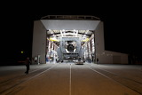 SPACEX FALCON 9 ROLLS OUT OF THE HANGAR FOR SES 8