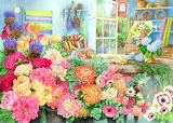 Flowers-shop-painting-by-anne-searle-ravensburger