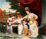 Lady Rushout and Children by Thomas Gooch Appleton