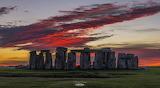 Christmas Day Sunset at Stonehenge