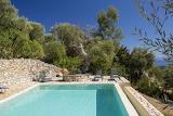 Greek swimming pool and garden terrace
