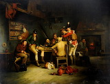 Tavern scene with a soldier by Alexander Carse