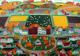 ^ Village, houses, trees ~ Amanda Mathis