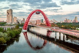 Zhivopisny Bridge, Mosk, Russia