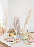Modern Fall Pumpkin Tablescape