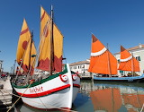 Canal port, sailboats, Cesenatico