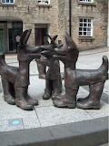 Miners Boots Sculpture, Redruth, Cornwall