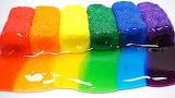 Rainbow clay slime