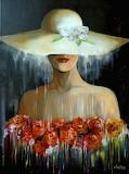 Femme au chapeau-peinture