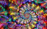 Rainbow spiral brocade by wolfepaw