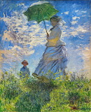 woman with umbrella-Claude Monet