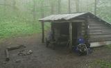 Fog at Spring Mountain Shelter