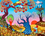 The tree of hearts-painting