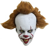 Rryilong Masque d'halloween Qui Fait Peur Latex Visage Complet C
